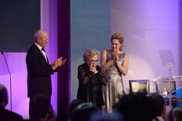 Marcos Caruso, Claudia Raia e Nathalia Timberg - premio cesgranrio