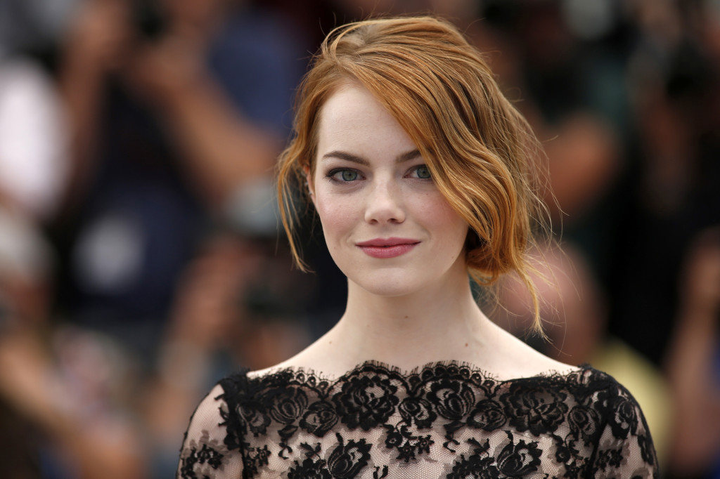"""Cast member Emma Stone poses during a photocall for the film """"Irrational Man"""" out of competition at the 68th Cannes Film Festival in Cannes"""