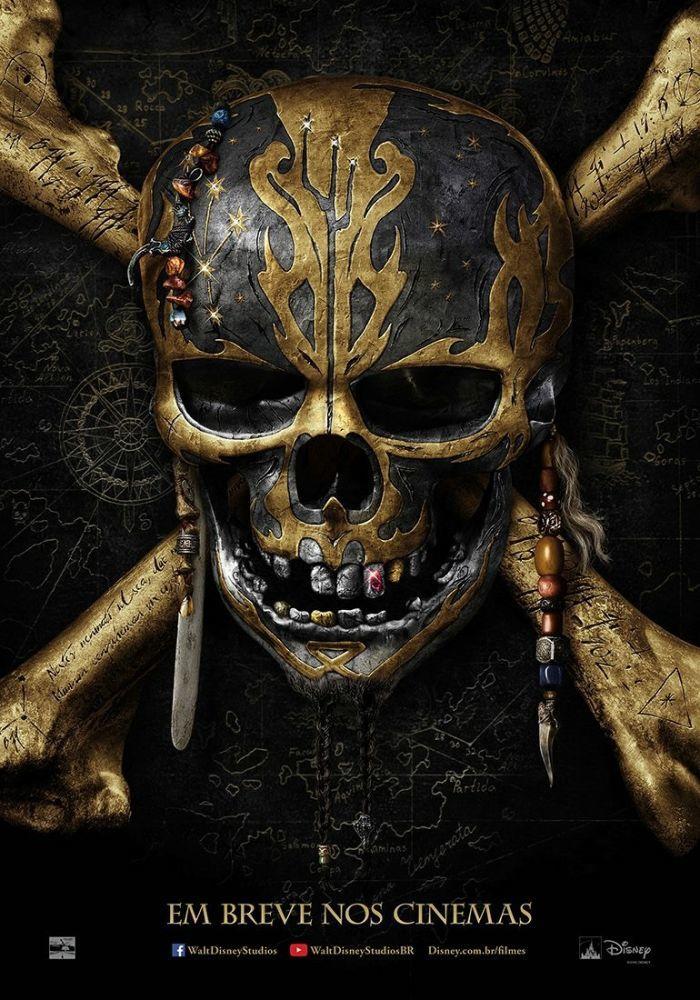 Piratas do Caribe 5: pôster do filme