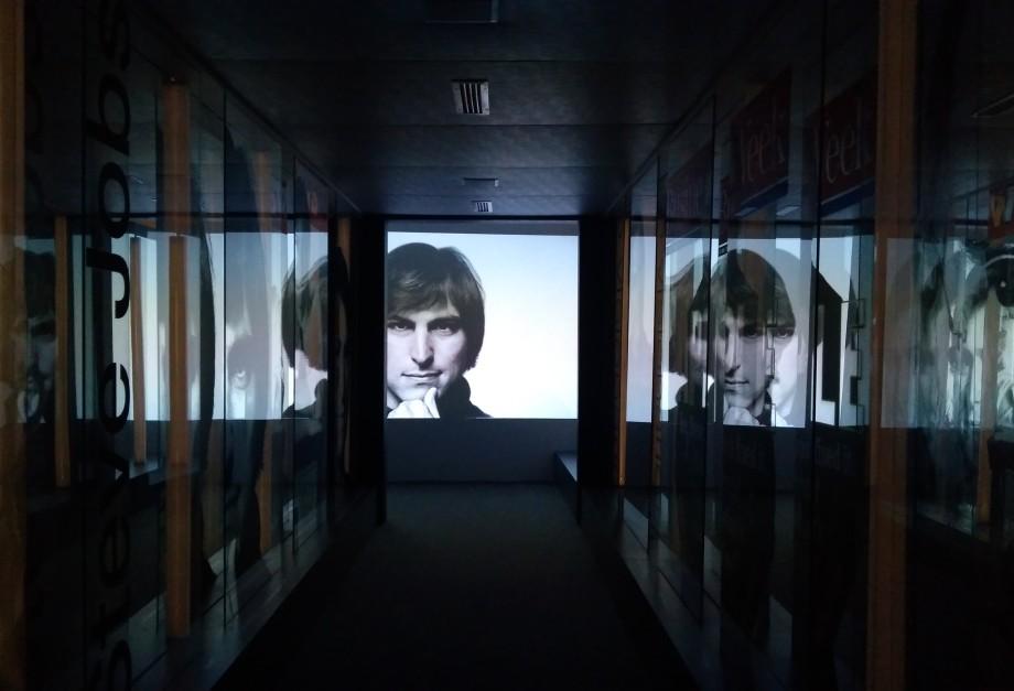 Detalhes da exposição sobre o Steve Jobs