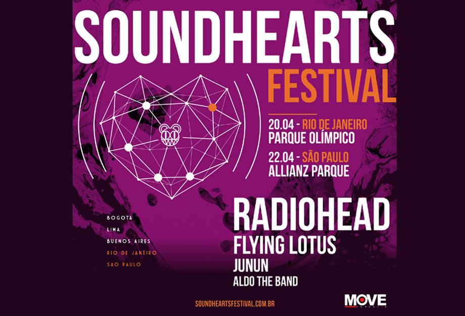 Pr 233 Venda Para Soundhearts Festival Com Radiohead Come 231 A
