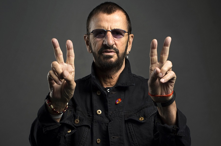 Ringo Starr poses for a portrait on Monday, June 13, 2016, in New York. Starr is currently on a U.S. tour with his All-Starr band, which wraps on July 2 in Los Angeles. He turns 76 on July 7.  (Photo by Scott Gries/Invision/AP)