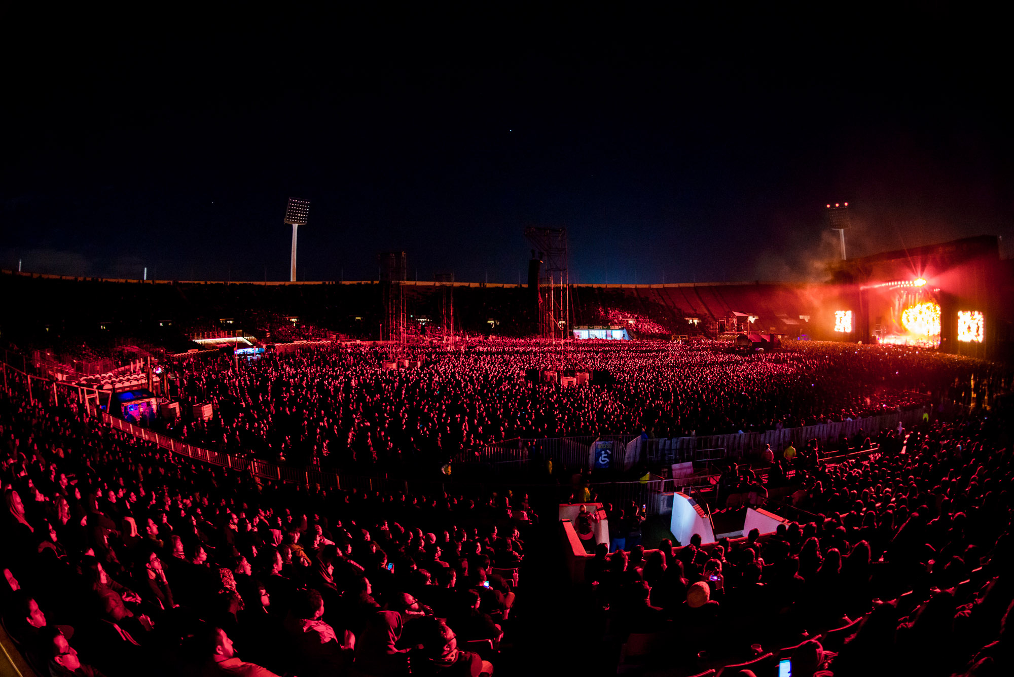 Radiohead no Chile - Crédito: Jaime Valenzuela