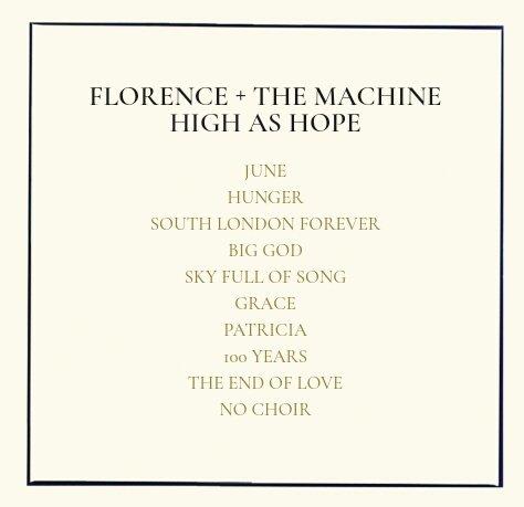 florence tracklist