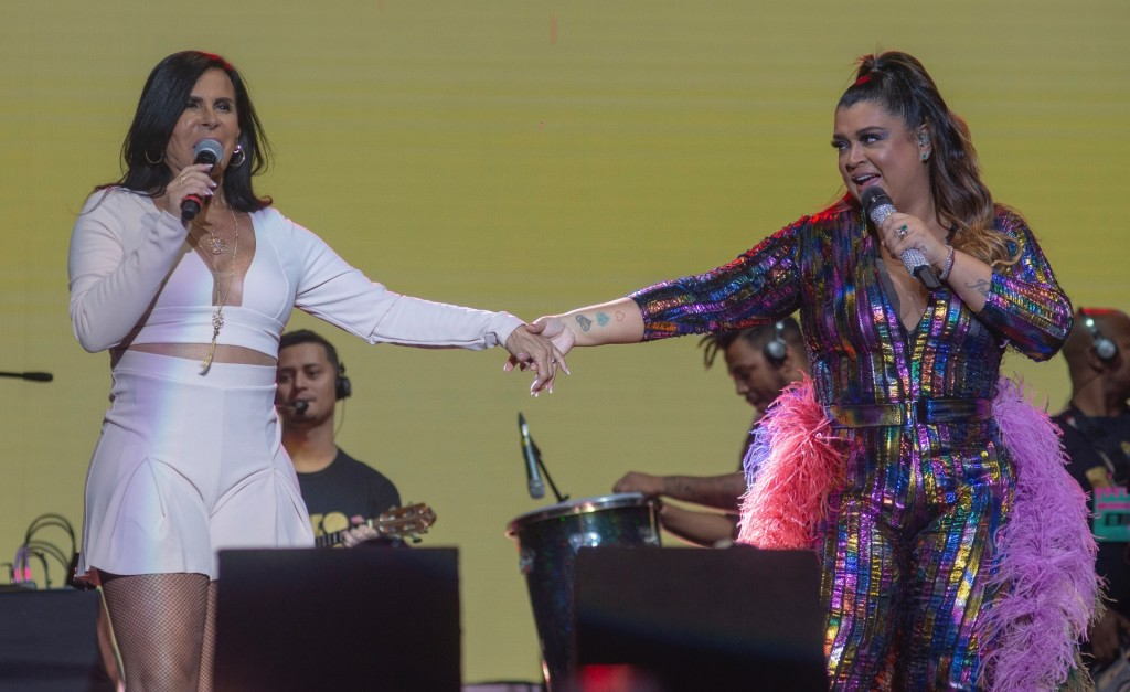 Gretchen e Preta Gil no palco Live Stage do Milkshake Festival. Foto: Felipe Panfili